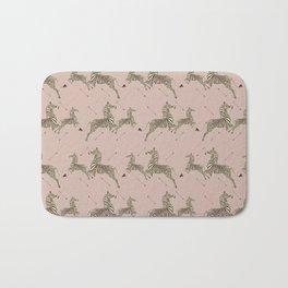 Royal Tenenbaums Zebra Wallpaper - Dusty Pink Bath Mat