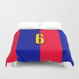 soccer team jersey number six Duvet Cover
