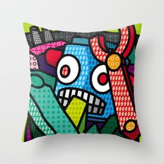 Artsy Bot Throw Pillow