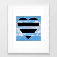 moschino Framed Art Prints featuring Moschino Heart by cvrcak