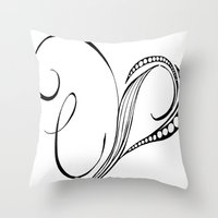cassia beck Throw Pillows featuring Cassia Kalkora by Jennifer Broderick