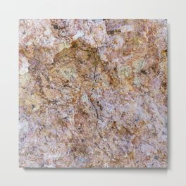 Abstract orange granite pattern Metal Print