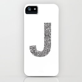 Letter J iPhone Case