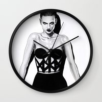 vogue Wall Clocks featuring Vogue  by Tania Santos