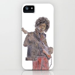 Jimi Hendrix trippy iPhone Case