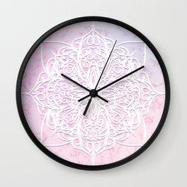 Candyfloss Marble Mandala Wall Clock