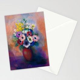 "Odilon Redon ""Anemones (Vase d'anémones)"" Stationery Cards"