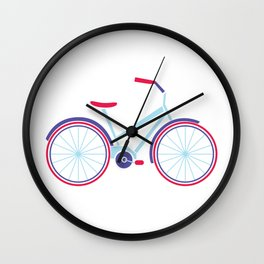 Everything is better on a bike Wall Clock