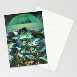 Green gems valley Stationery Cards