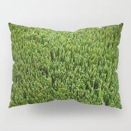 Abstract background artificial green grass Pillow Sham