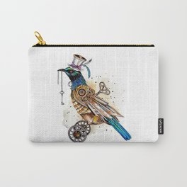 Steampunk Tui Bird  Carry-All Pouch