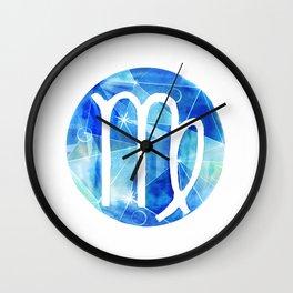 Virgin. Sign of the zodiac. Wall Clock