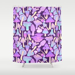 Spooky Mushroom Hunt Shower Curtain