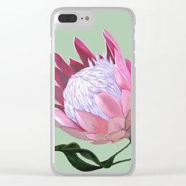 King Protea II Clear iPhone Case