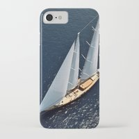 sailboat iPhone & iPod Cases featuring sailboat by laika in cosmos