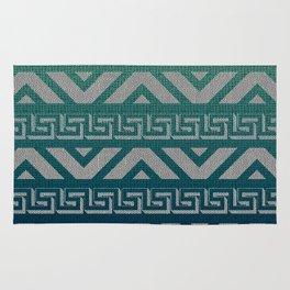 """""""Blue Aztec Urban Textured Pattern"""" Rug"""