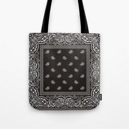 Paisley - Bandana - Black -  Southwestern Tote Bag