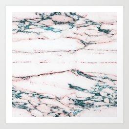 Zinfindel Blush and Seafoam-Blue Marble Art Print