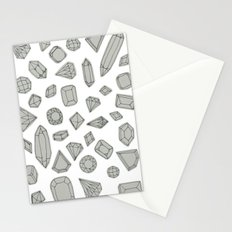 doodle crystals on white Stationery Cards