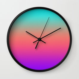 Sunset shades on the sea Wall Clock