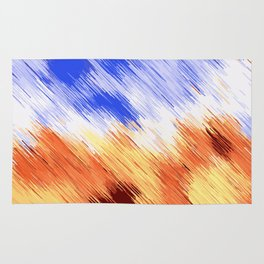 blue brown and white painting texture abstract background Rug