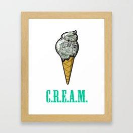 Ice C.R.E.A.M. Framed Art Print
