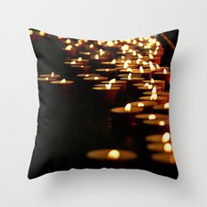 Candles for the Madonna Throw Pillow