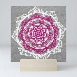 Mandala on Gray Jersey Mini Art Print