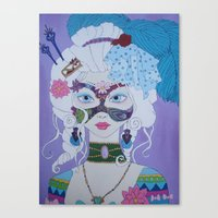 marie antoinette Canvas Prints featuring Marie Antoinette by Keith Loves Geisha