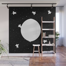Moon Phases: waning gibbous Wall Mural