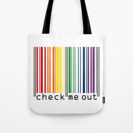 CHECK ME OUT (black text) Tote Bag