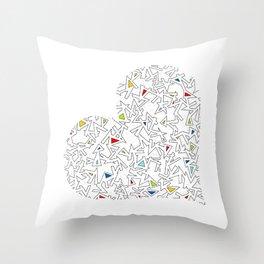 Heart (5) Throw Pillow