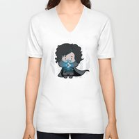 ghost V-neck T-shirts featuring Ghost? by Perdita