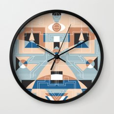 Tribal Technology 2 Wall Clock