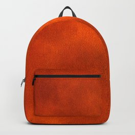 Warm Orange Watercolor Abstract Backpack