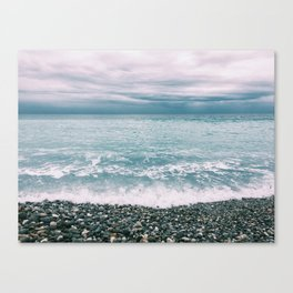 Menton Beach Canvas Print