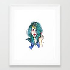 Frances bean / This is water  Framed Art Print