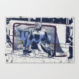 The Goal Keeper - Ice Hockey Canvas Print