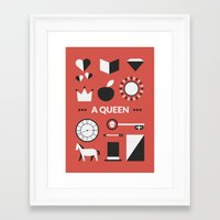 ouat Framed Art Prints featuring OUAT - A Queen by Redel Bautista