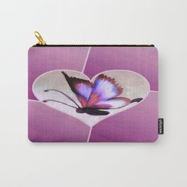 Butterfly Love - Lavender Carry-All Pouch
