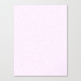 Spacey Melange - White and Pastel Violet Canvas Print