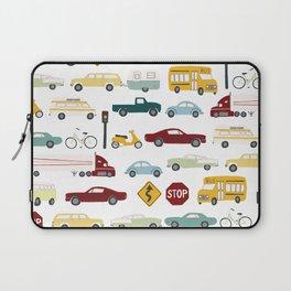 Beep Beep! Cars and Trucks Traffic Pattern Laptop Sleeve