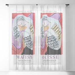 Matisse Exhibition - Aix-en-Provence - The Dream Artwork Sheer Curtain