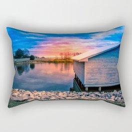 Sunset Glow on the Water Rectangular Pillow