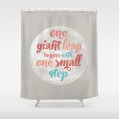 One giant leap Shower Curtain