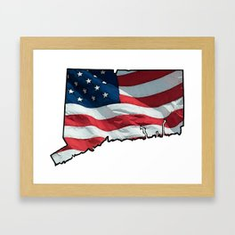 Patriotic Connecticut Framed Art Print