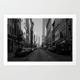 Mornings in Old Montreal Art Print