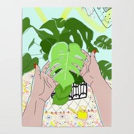 Monstera hands Poster