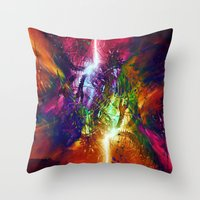 chaos Throw Pillows featuring Chaos by Robin Curtiss
