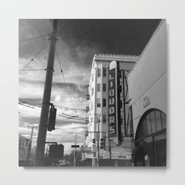 Inner Liquors Black & White San Francisco Metal Print